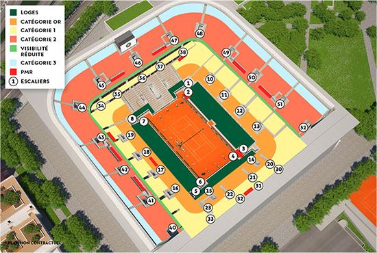 全仏オープンテニスの準々決勝 シート