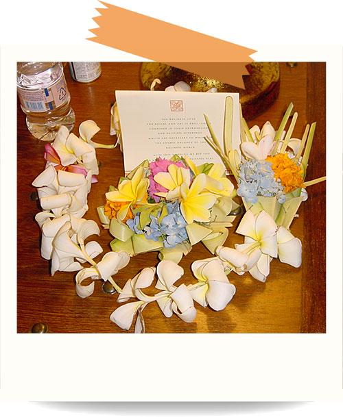 ヒンドゥー教の花飾りチャナン